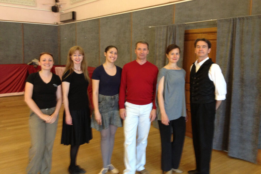 With teachers and organisers of 2013 Historical Dance Festival in Moscow