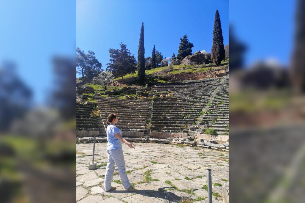 Back to the origin, Apollo Theatre in Delphi, Greece
