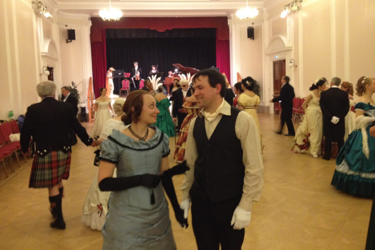 November 2013 Edinburgh Quadrille goers meet with London Quadrille Club in London for the Winter Ball