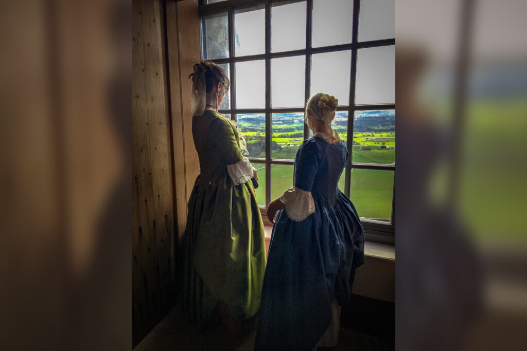 April 2018 Elaine and May enjoying the view in the Stirling Castle
