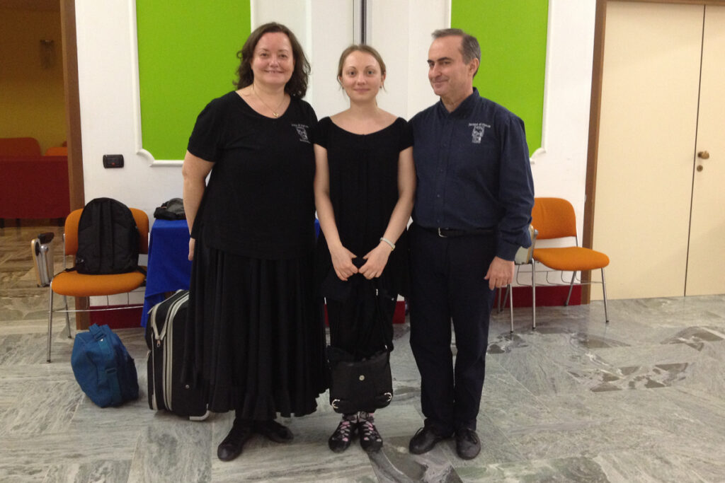 April 2013 With teachers at Easter School of Societa di Danza, Italy