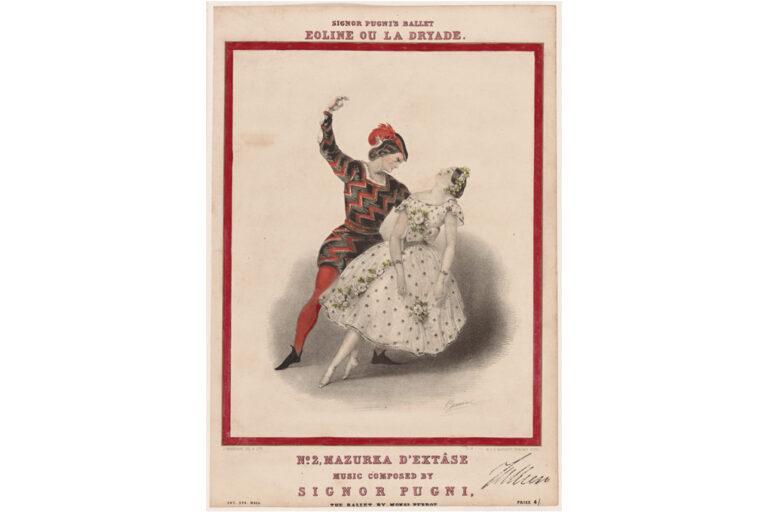 Lucille Grahn & Jules Perrot in Mazurka d'Extase from Ballet Eioline, London, 1845