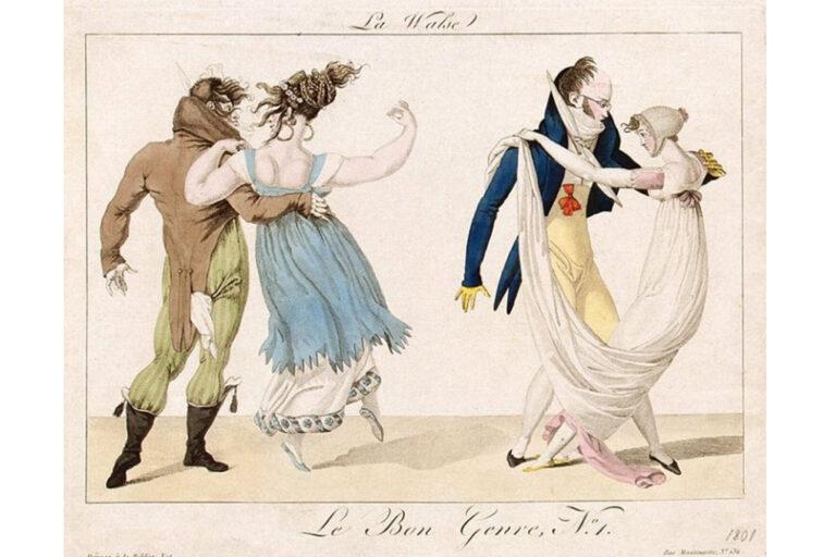 La walse, by James Gillray, 1810.